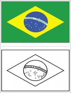 DESENHO DA BANDEIRA DO BRASIL