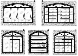 Desenhos de portas e janelas