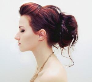 Penteado moicano feminino