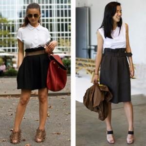 Blusas para usar com saia de cintura alta